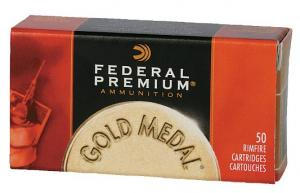 Federal 22 Long Rifle Gold Medal Target 40 Grain Lead Subson