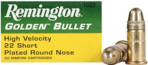 Remington .22 Short  High Velocity 29 Grain Plated Lead Round - 1022