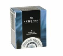Federal P357S1 Personal Defense Jacketed Hollow Point 50RD 125gr 357 Sig