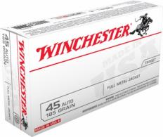 Winchester 45 ACP 185 Grain Full Metal Jacket - USA45A