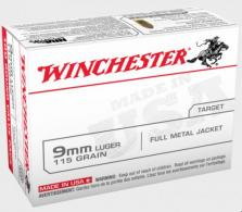Winchester 9MM 115 Grain Full Metal Jacket Value Pack