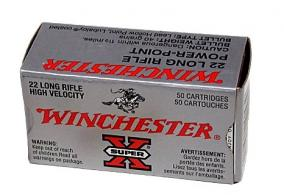 Winchester 22 Long Rifle Super X High Velocity 40 Grain Powe