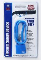 "DAC CL551B Steel Cable Lock 15"" Blue 10pk - CL551B"