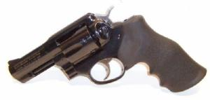 Ruger GP-100 357 Mag 3in, Blued, Hogue Monogrip, Fixed, Full - gpf-331
