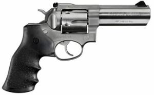 Ruger GP-100 357 Mag 4in, Satin Stainless, and Rubber Grips
