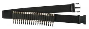 Rifle Shell Adjustable Belt Black 20 Cartridges - 00682