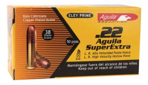 Aquila .22 Long Rifle 38 Grain Solid Point High Velocity Hollow
