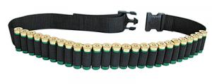 Shotgun Shell Belt Holds 25 Shotshells Cordura Black - 211