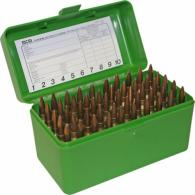 Case-Gard 50 Rifle Ammo Boxes .22 Hornet and .30 Carbine Living- - 22-HORN-10