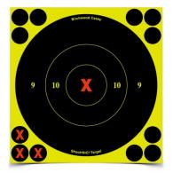 Shoot-N-C 6-Inch Round X-Bullseye Targets 60 Per Package Plus 24 - 34560