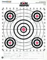100 Yard Rifle Sight In Target Orange Bullseye 12 Per Pack - 45726