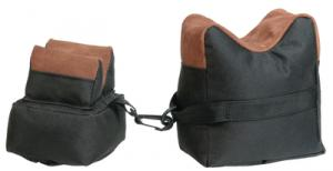 Two-Piece Bench Bags Fabric and Leather Black Filled - BRB2F-28213