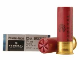 Power-Shok 12 GA 2.75 IN. 1140 FPS 9 Pellets 00 Buck