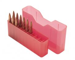 J-20 Slip-Top Boxes .300 to 7mm Magnum Caliber Clear Red - J-20-LLD-29