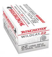 Wildcat .22 Long Rifle 40 Grain Lead Round Nose 50rds