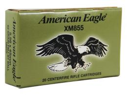 American Eagle .223 Remington/5.56mm 62 Grain Full Metal Jacket  - XM855F