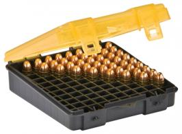 Flip Top Handgun Ammo Case 100 Round 9mm/.380 Gray/Amber - 122400