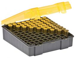 Flip Top Handgun Ammo Case 100 Round .41 Mag/.44 Mag/.45 Long Colt Gray/Amber - 122600