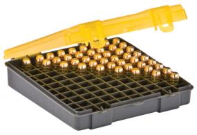 Flip Top Handgun Ammo Case 100 Round .40S&W/.45ACP/10mm Gray/Amber - 122700