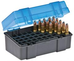 Flip Top Small Rifle Ammo Case 50 Round Gray/Blue - 122850