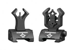 Diamond Integrated Sighting System Front/Rear Sights Matte Black - 1199