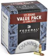 Champion Value Pack .22 Long Rifle 36 Grain Copper Plated Hollow Point 525 Bulk Rounds Per Box