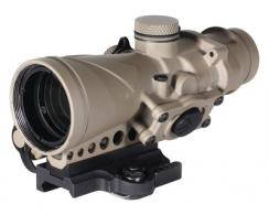 Combat 4x32mm Optic .300 AAC Blackout Red Horseshoe and Dot Reticle ADM Mount Flat Dark Earth - BCO-004-FDE-ADM