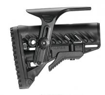 AR-15/M4 Stock With Adjustable Cheek Riser Battery Storage And Rubber Buttpad Black - GLR16CP