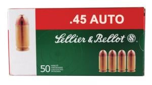 Sellier & Bellot .45 ACP 230 Grain Full Metal Jacket