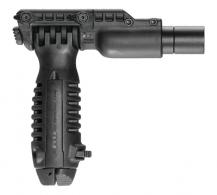 Tactical Foregrip With Integrated Adjustable Bipod and One Inch Flashlight Adapter - T-PODFA