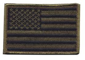 American Flag Patch Standard Subdued Olive Drab 2x3 Inches - 90SAFV