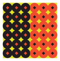 Shoot-N-C 1-Inch Round Targets Black/Orange 432 Total - 34117
