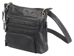 Cross Body Series Concealed Carry Purse Large Black - BDP-038