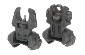 Meprolight Back-Up Flip-Up Sight Set Front/Rear Tritium 2 Dot - FRBS M2D