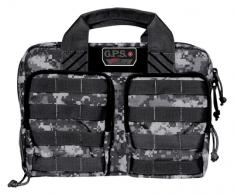 Tactical Quad +2 Pistol Cases Black Gray Digital - GPS-T1315PCGD