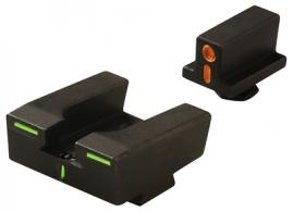 R4E Optimized Duty Sight Set Full Size Glock Only Orange Front/Green Rear - ML12224O/G