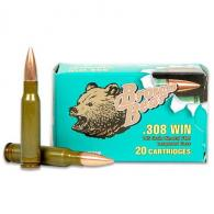 BEAR BROWN 308WIN 145GR FMJ 20RD - AB308FMJ