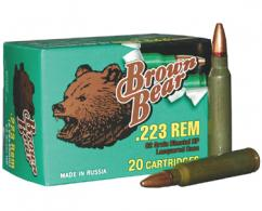 BEAR BROWN 223REM 62GR HP 20/25