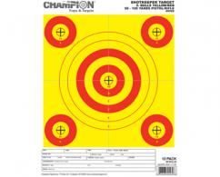 CHAMP SHOTKEEPER 5 BULLS YELLOW TARGET 12PK (12) - 45562