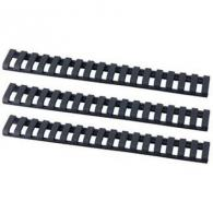 ERGO RAIL COVER LOWPRO 18 SLOT LADDER BLACK 3PK - 43733PKBK