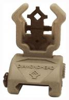 DH DIAMOND REAR POLY SIGHT FDE W/ NITEBRITE - 1402