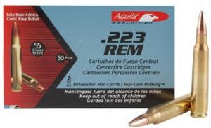 Aguila .223 Remington 55GR FMJ 50/20 BRASS CASE
