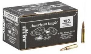 FED AMERICAN EAGLE 5.56 55GR FMJ BT 150/4
