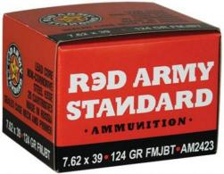 RED ARMY STANDARD 124GR 7.62X39 FMJ BT 20/BOX - AM2423