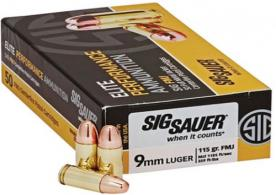 Sig Sauer AMMO 9MM 147GR ELITE BALL FMJ 50/20