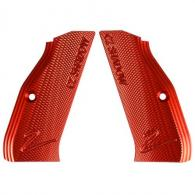 CZ ALUMINUM GRIPS LONG SHADOW 2 RED - 40161