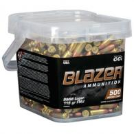 BLAZER BRASS 9MM 115GR FMJ 500RD BUCKET