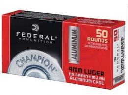 Federal Ammo 9mm 115gr FMJ Champion Aluminum 50/box
