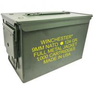 WIN USA 9MM 124GR FMJ AMMO CAN 1000/1