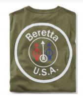 BERETTA T-SHIRT USA LOGO X-LARGE OD GREEN - E01209